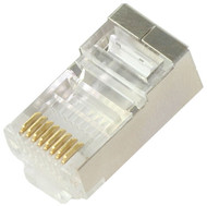 RJ45 Cat5E Shielded Plugs For Solid Round Wire (TA-9112S)