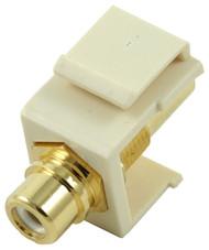 Almond RCA Modular Keystone Jack with White Insert (CA-2209-W-AL)