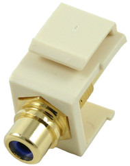 Almond RCA Modular Keystone Jack with Blue Insert (CA-2209-B-AL)