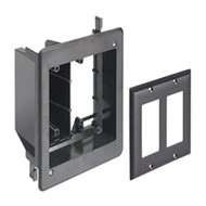 Double Gang Recessed Combination Power and Low Voltage Box Black (TVBU505BL)