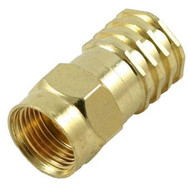 RG-6 F-Type Crimp Connector- Gold Plated (SFC-6G)