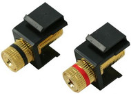 Black Binding Post Keystone Module - Pair (CA-2131BK)