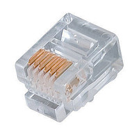 RJ12 Plugs For Solid Round Wire (TA-9111)