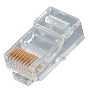 RJ45 Cat5E Plugs For Solid Round Wire (TA-9112)