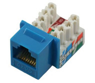Cat 6 RJ45 110 Type 90 Keystone - Blue (TA-1076BL)