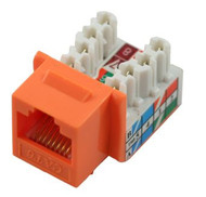 Cat 6 RJ45 110 Type 90 Keystone - Orange (TA-1076OR)