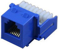 Cat 3 RJ12 110 Type 90 Keystone - Blue (TA-3121BL)
