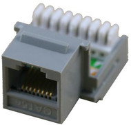 Cat 5E RJ45 110 Type 90 Keystone - Gray (TA-2078GY)