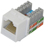 Cat 5E RJ45 110 Type 90 Keystone - White (TA-2078WH)