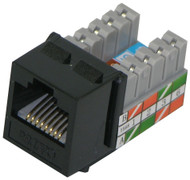 Cat 5E RJ45 110 Type 90 Keystone - Black (TA-2078BK)