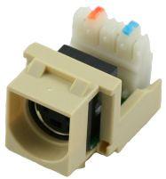 Ivory S-Video to 110 IDC Keystone Module (CA-2141IV)