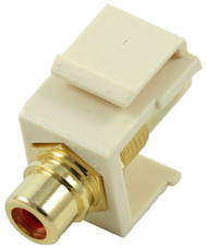 Almond RCA Modular Keystone Jack with Red Insert (CA-2209-R-AL)