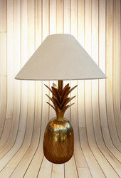 Pineapple Table Lamp In Brass