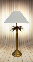 Palm Tree Table Lamp In Brass (OC/2369/AB)
