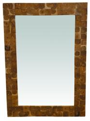 Mosaic Teak Squares Mirror