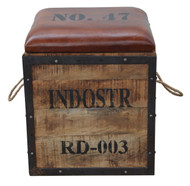 Industrial Ottoman With Storage