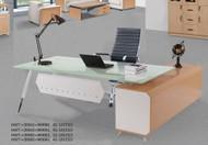 Milan Glass Top Executive Desk