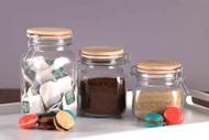 Set of 3Pcs Retro Coffee/Tea/Sugar Glass Jar
