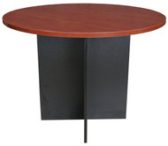 Cosmo Circular Conference Table 1000D in Red Apple