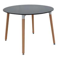 Retro Bistro Round Table In Black