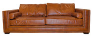 Deladuo Sofa In Leather (Vegetable Brown)