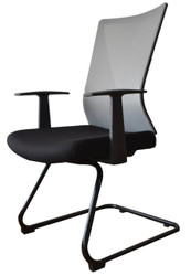 Visitor Chair HT-7068DEX in Light Grey