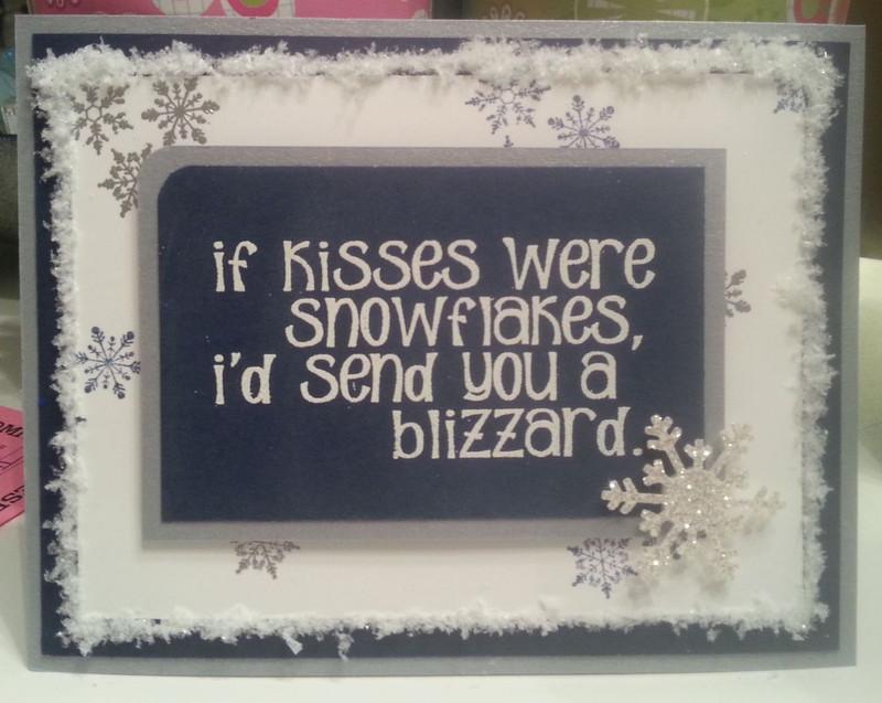 Snowflake Kisses Card