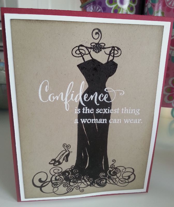 Confidence is Sexy with Black Slinky Dress 2 - So Suzy Stamps