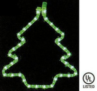 Rope Light Christmas Tree