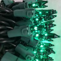50 Green Mini Lights   Green Wire