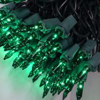 100 Green Mini Lights  Green Wire