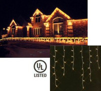 100 Icicle Lights - Large Drop Size