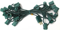 "C9 25 FT Christmas Light String, 12"" Spacing, Green Wire"