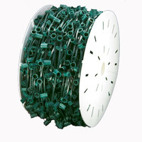 "C9-1000 Socket Light String Spools, 12"" Spacing - GREEN WIRE"
