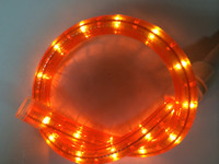 Orange Rope Light Spools 150FT 120V 2 Wire, 1.5FT Cuttable 5.5 watts