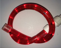 Red Rope Light 150FT Spool 120V 2Wire - 1.5FT Cuttable, 5.5 watts