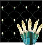 LED Net Lights 4'x6' Green Wire, Clear Bulbs