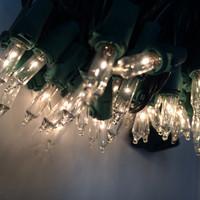 100 Clear Mini Lights - Green Wire - 50.5 Feet Long