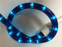 Blue Rope Light 150FT Spool 120V 2 Wire - 1.5FT Cuttable, 5.5watts/FT