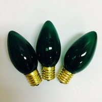 C9 Traditional Bulbs 7Watts  Box of 25 GREEN