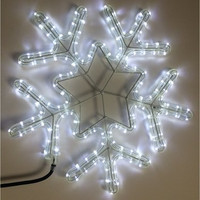 "LED 18"" Snowflake Rope Light Sculpture"