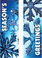 Blue Snowfall Banners