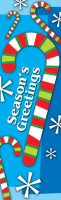 Candy Cane & Snow Banner