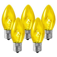 C9 Traditional Bulbs  7 Watts - Box of 25 Bulbs YELLOW