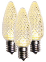 C9 Sun Warm White Faceted LED Christmas Light Bulbs- 25 bulbs/box