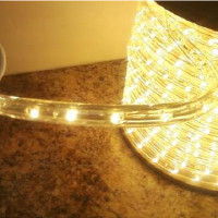 "Warm White LED Rope Light, 2 Wire, 1/2"", 150FT Spool"