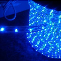 "Blue LED Rope Light, 2 Wire, 1/2"", 150FT Spool"