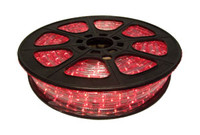 "Red LED Rope Light, 2 Wire, 1/2"", 148FT Spool"