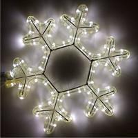 "LED 12"" Snowflake Rope Light Sculpture"