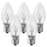 C9 Clear Incandescent Low Energy Christmas Light Bulbs, Case of 1000 bulbs